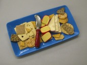 Blue Rec Cheese Plate