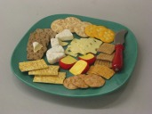 Bluegreen Party Plate