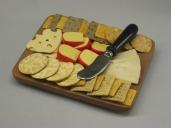 Cheese Board w Black Handled Knife